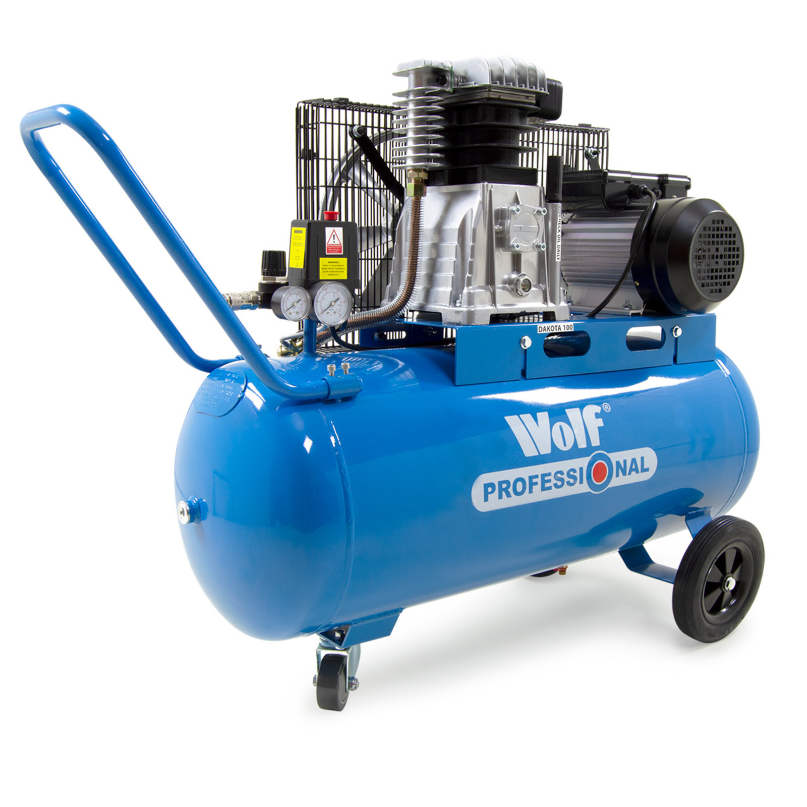Wolf Dakota 90L Air Compressor 14 CFM 3HP. (Click on the image to enlarge)
