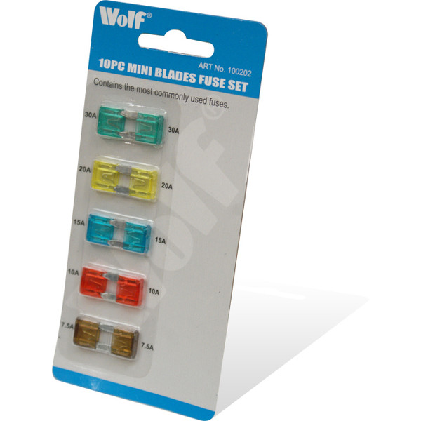 Wolf 10pc Mini Blades Fuse Set