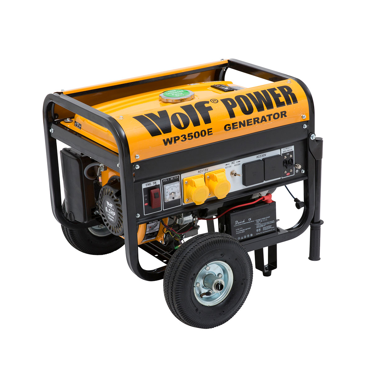 wolf 3200w petrol generator with electric start system ukhs