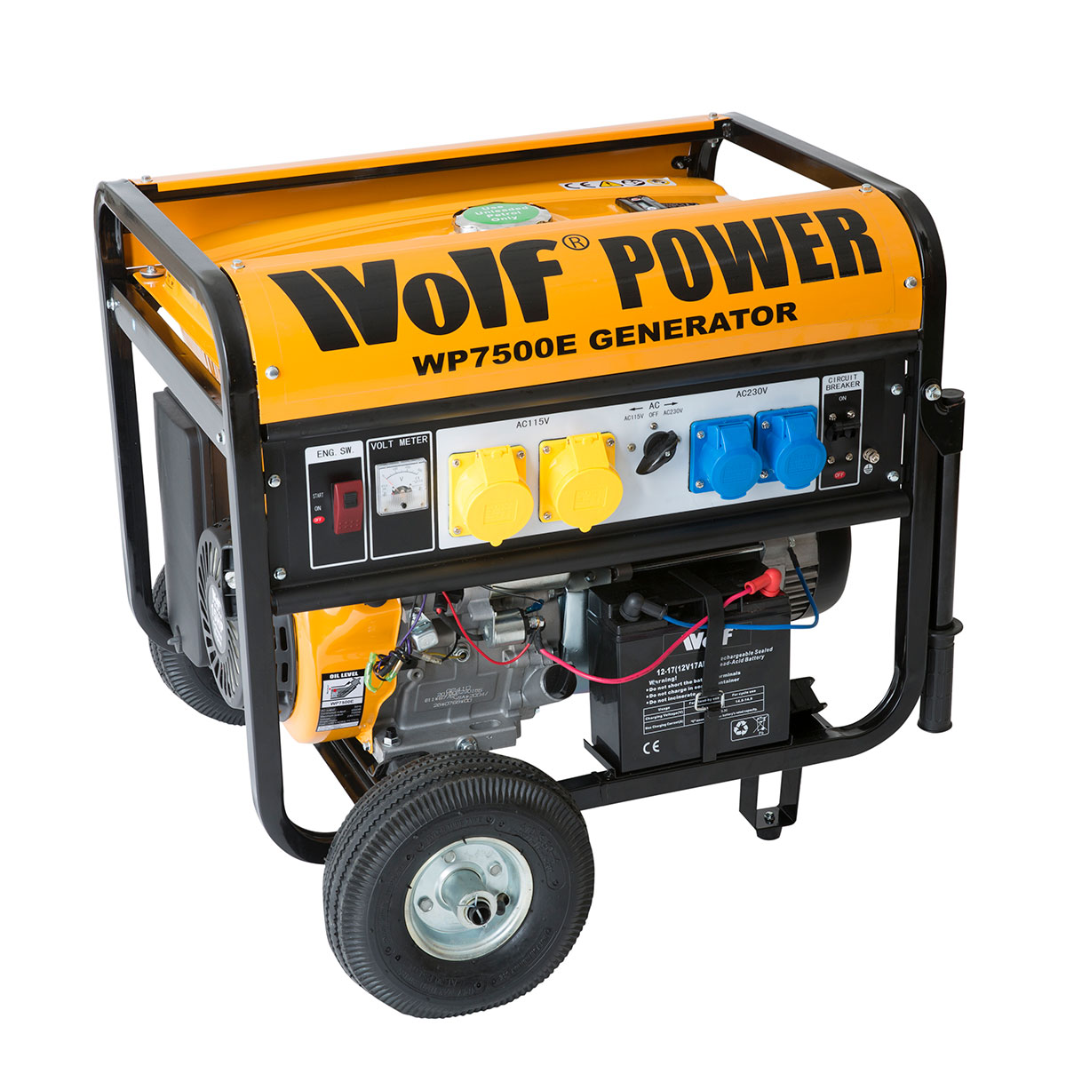 wolf 7000w petrol generator with electric start system ukhs tv rh ukhs tv 6 Volt Generator Wiring Diagram 3 Phase Generator Wiring Diagram
