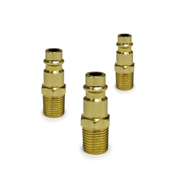 Wolf Uni Hi-Flow 1/4'' BSP Male Adaptors - Pack of 3