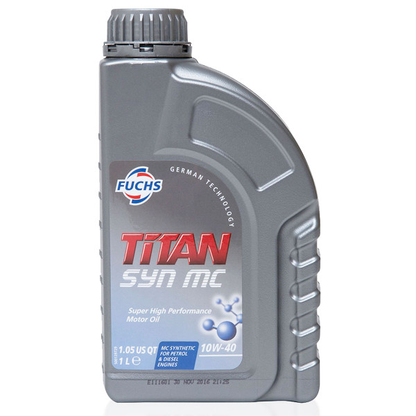 Fuchs Titan SYN MC 10w-40 1 Litre Semi-Synthetic Engine Oil