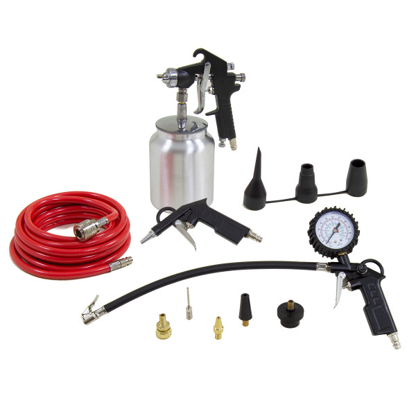 Wolf 13pc Professional Air Spray / Inflator Kit
