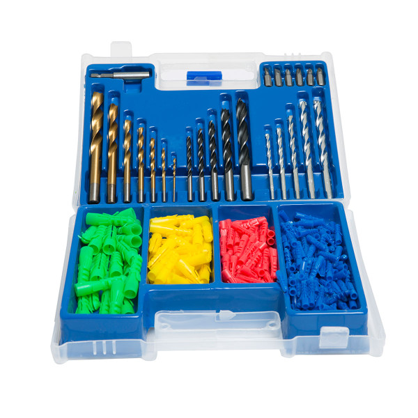 Wolf 300pc Drill Bit and Plug Set