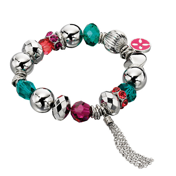 Fiorelli Coloured Enamel Multi Bead Bracelet