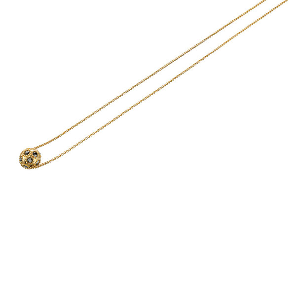 Fiorelli Gold Tone Necklace with Crystal Pave Ball