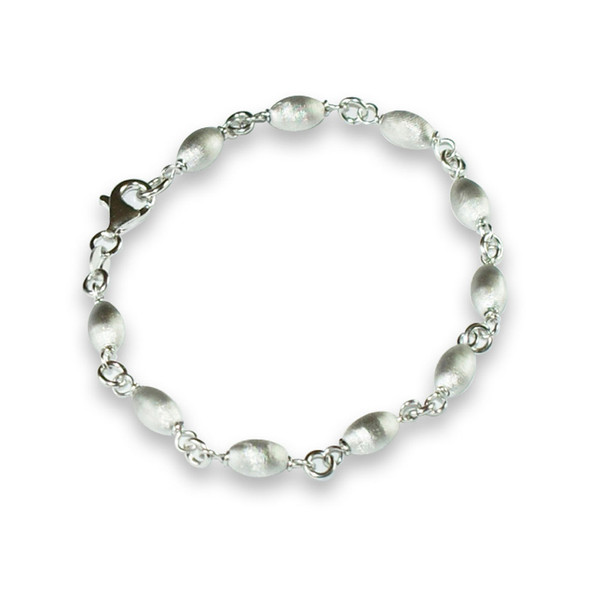 Persona Charm Bracelet: Persona Silver Satin Bead Bracelet For Women