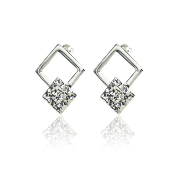 Persona Silver Squares Earrings