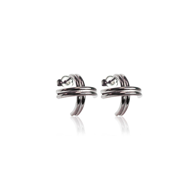 Persona Silver X Stud Earrings