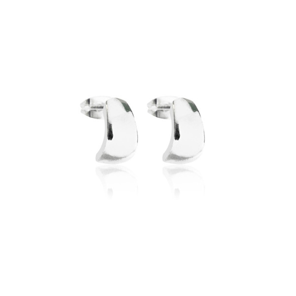 Persona Silver Huggy Stud Earrings