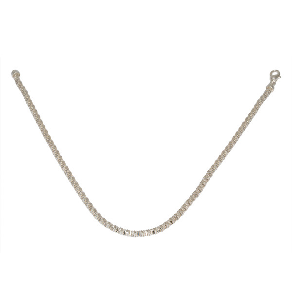 Persona Solid Silver Diamond Cut Necklace