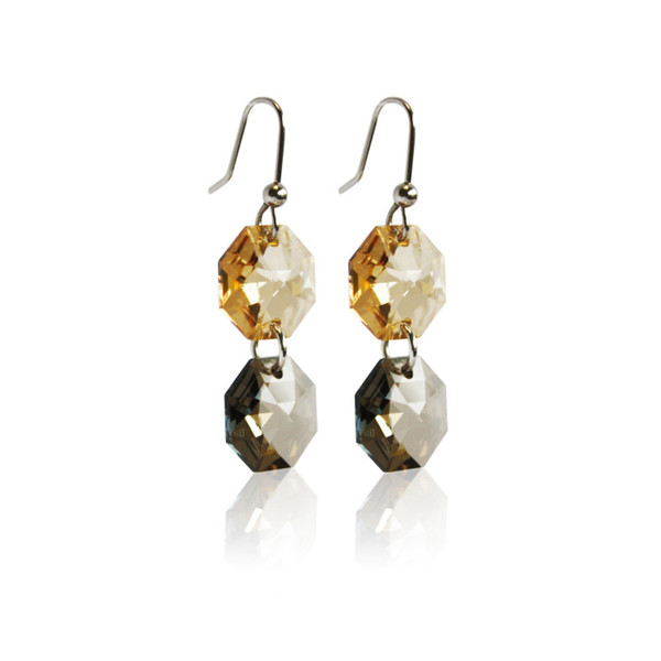 Persona Autumn Tone Crystal Drop Earrings