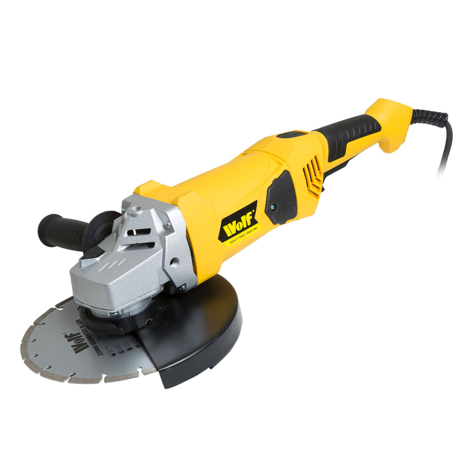 Wolf 2300w 9 Angle Grinder Click On The Image To Enlarge