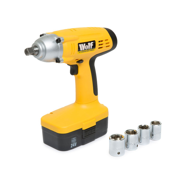 Wolf Cordless 24v Impact Wrench & 2 Batteries
