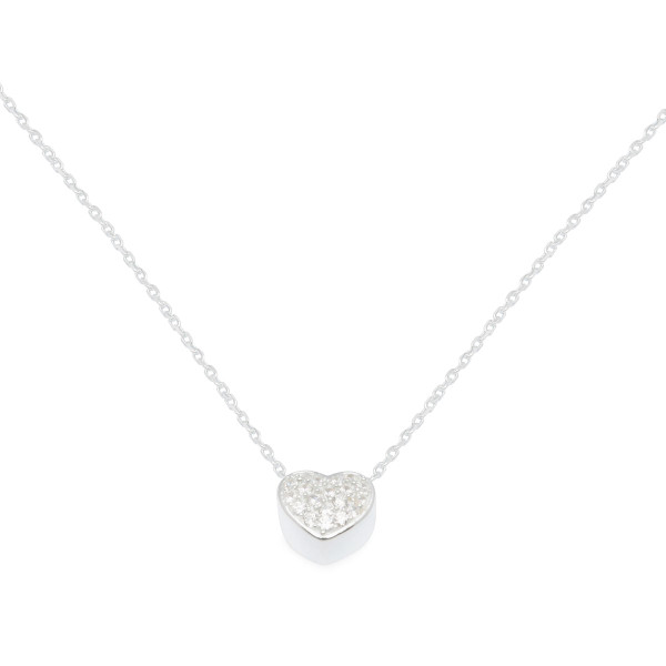 Persona Clear CZ Heart Necklace