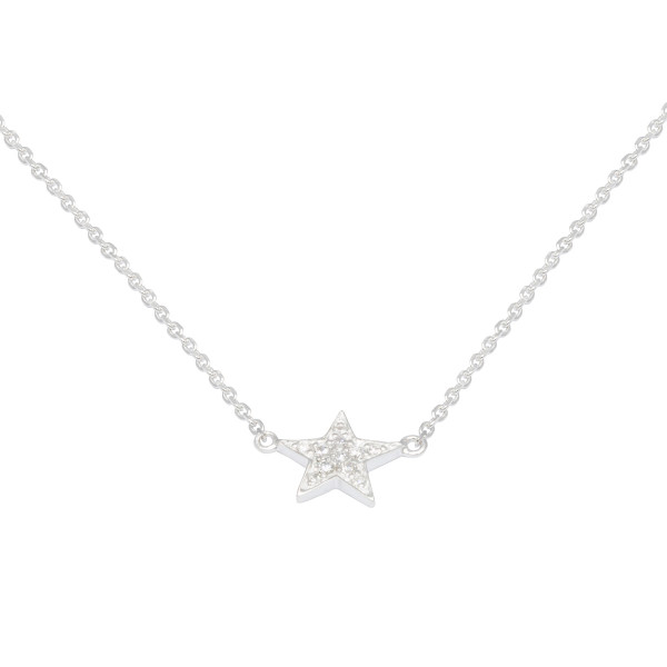 Persona Clear CZ Star Necklace