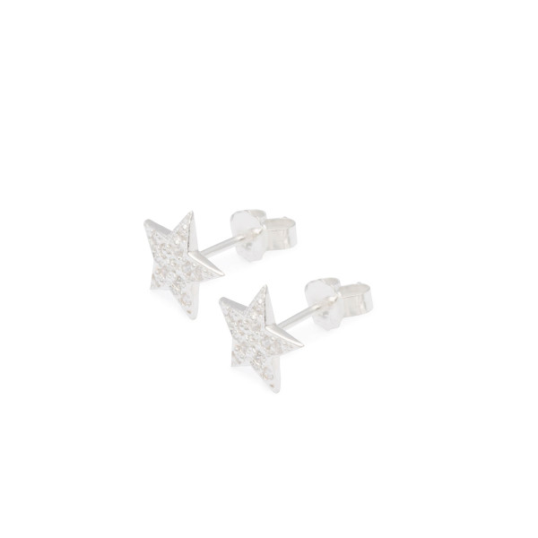 Persona Clear CZ Star Earrings