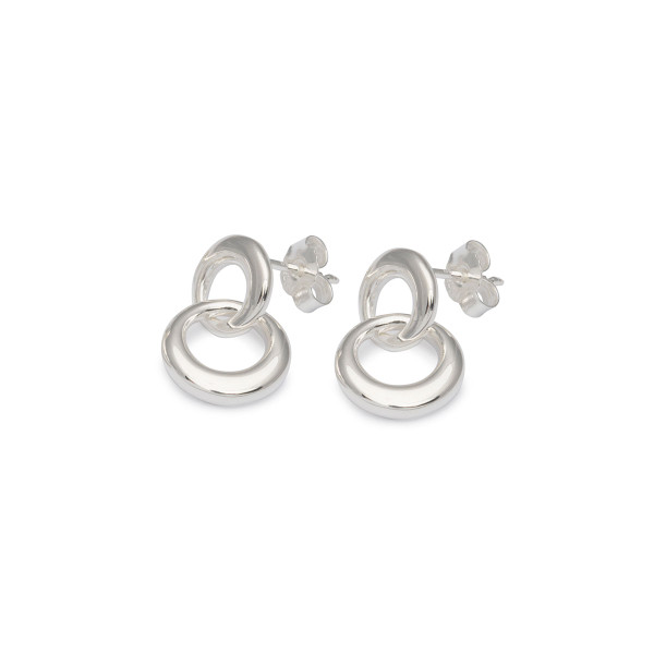 Persona Silver Interlocking Link Earrings