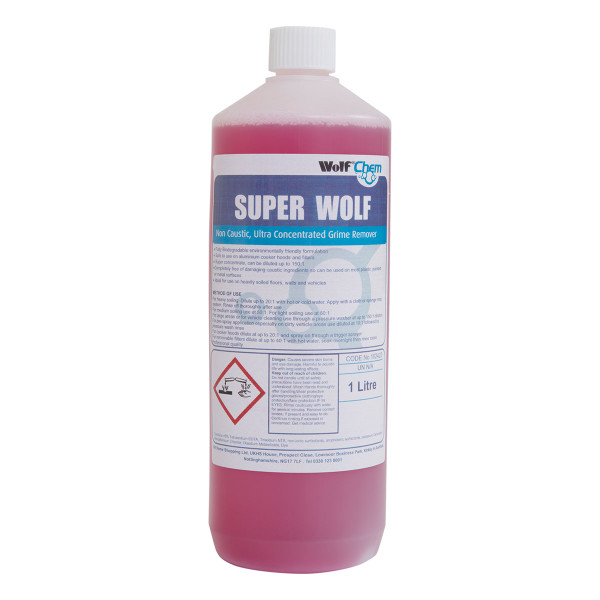 Wolf Non Caustic Ultra Concentrated Superwolf Cleaning Detergent and grime Remover