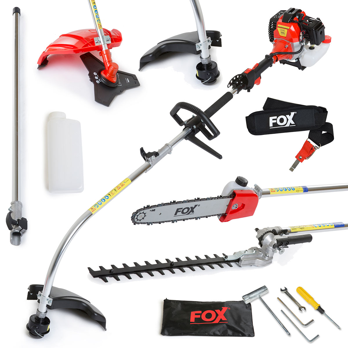 Fox Commander 52cc 6in1 Petrol Trimmer with Oregon Chain