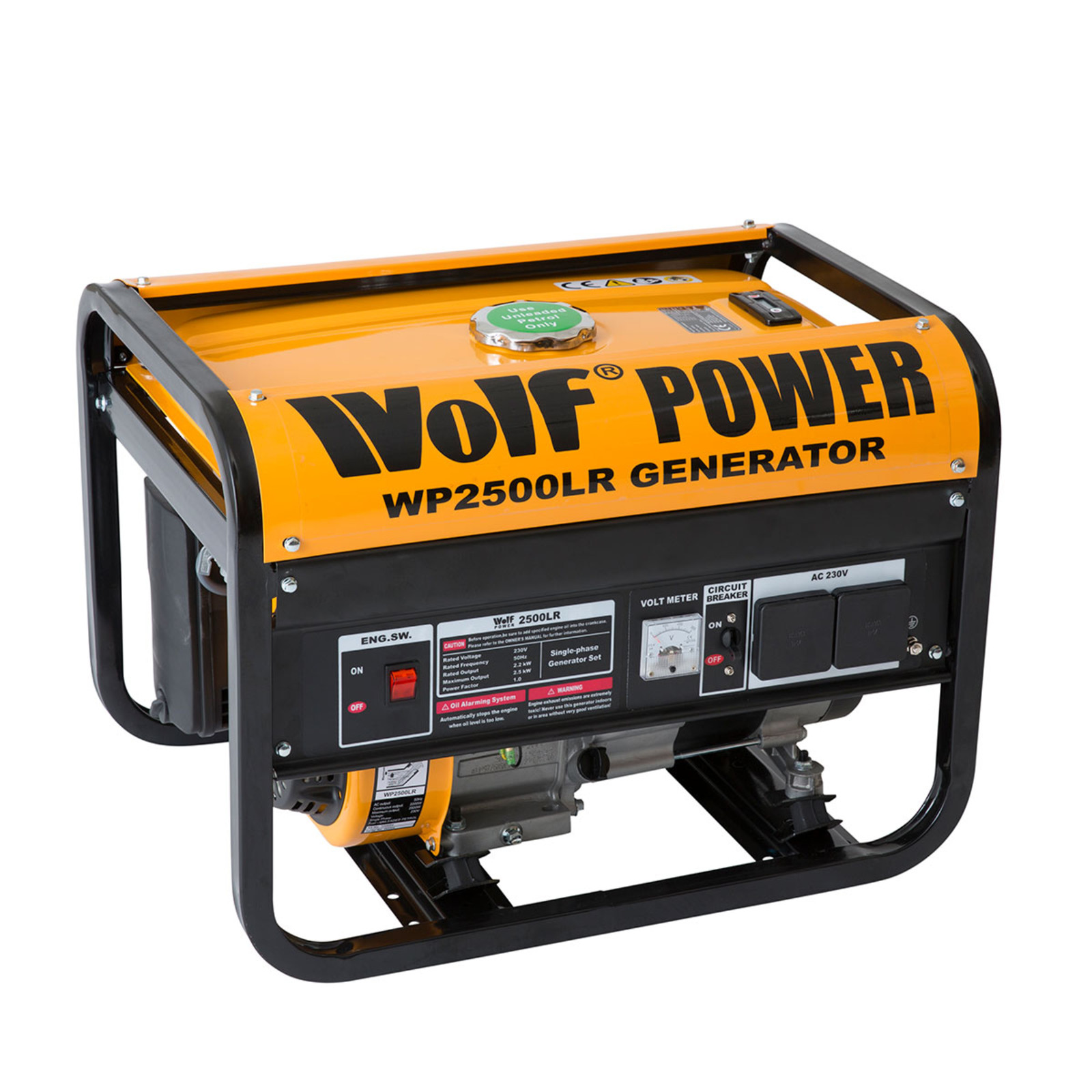 Wolf 2500w petrol generator with 2 x 240v sockets ukhs tools to go wolf wp2500lr petrol generator click on the image to enlarge asfbconference2016 Gallery