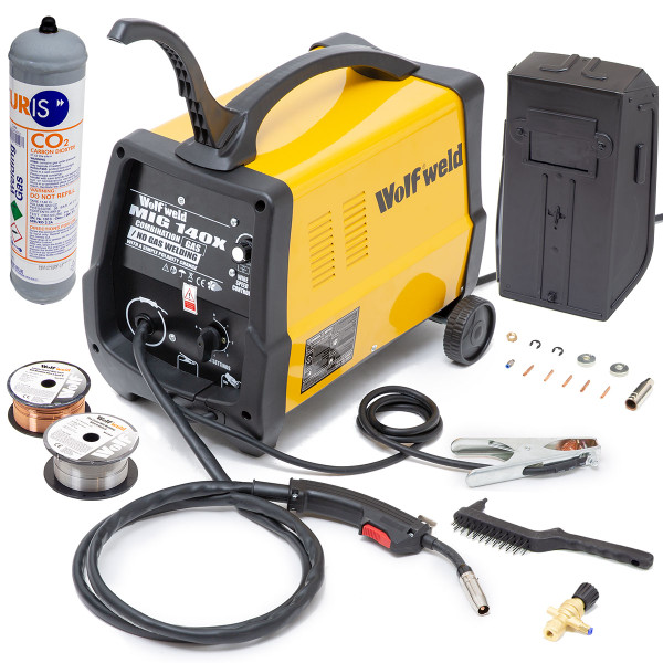 Wolf Combination Gas / No Gas MIG 140 Welder & Kit