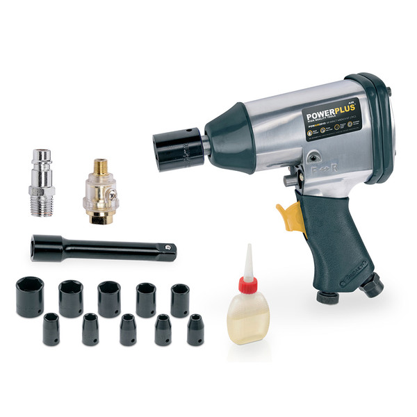 Powerplus 13pc 1/2'' Square Drive Air Impact Wrench Kit