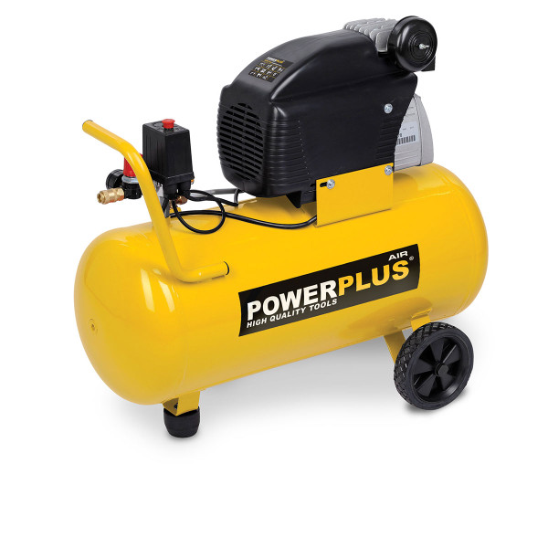 Powerplus 50L 2HP 7.8CFM 1500W Air Compressor POWX1760