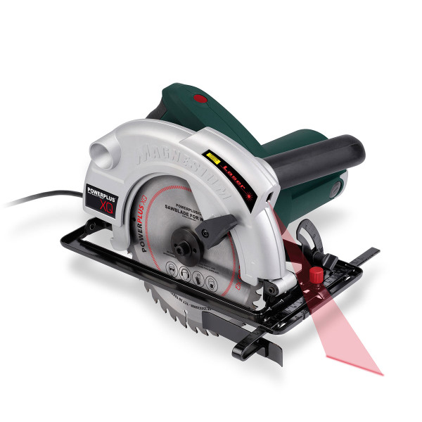 Powerplus 1800w 210mm Circular Saw with Laser Guide POWXQ5315