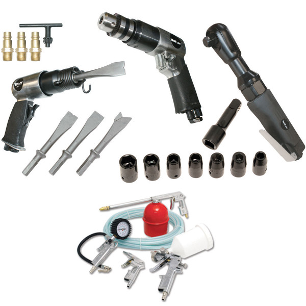 Wolf 3pc Automotive Air Tool Kit & 5pc Spray Kit