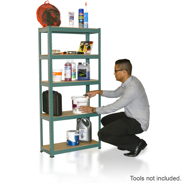 Wolf 1500mm Strong Steel 5 Tier Boltless Shelving Unit