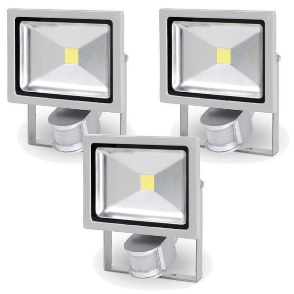 Powerplus 3PK 20w High Power LED Floodlight & Sensor POWLI231