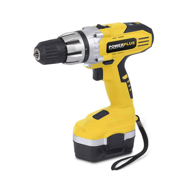 Powerplus 18v Cordless Drill / Driver with Carry Case POWX0057