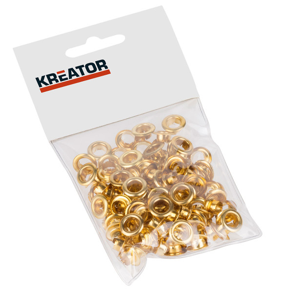 Kreator 100PK 7mm dia. Eyelet Set Brass KRT616105