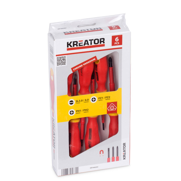 Kreator 6pc Electricians Screwdriver Set
