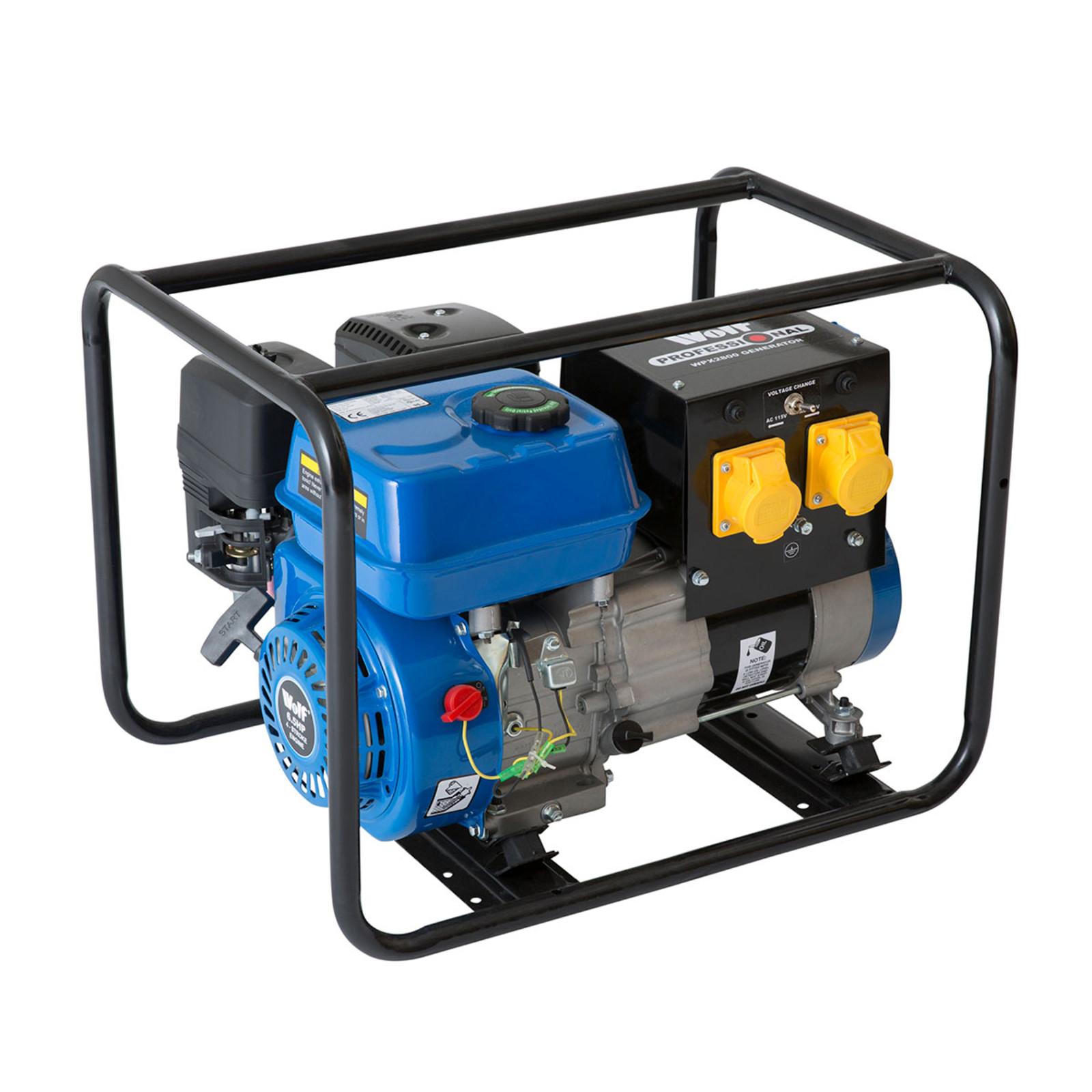 Wolf Pro 3200w Petrol Generator With Electric Start