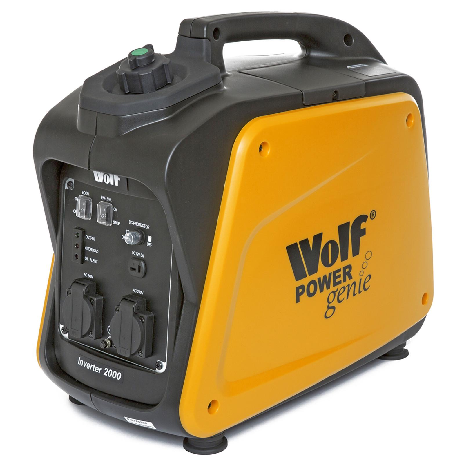 Wolf 2000w Petrol Inverter Generator Power Genie