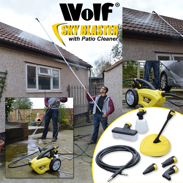 Wolf Sky Blaster Pressure Washer, Telescopic Lance, Patio Cleaner