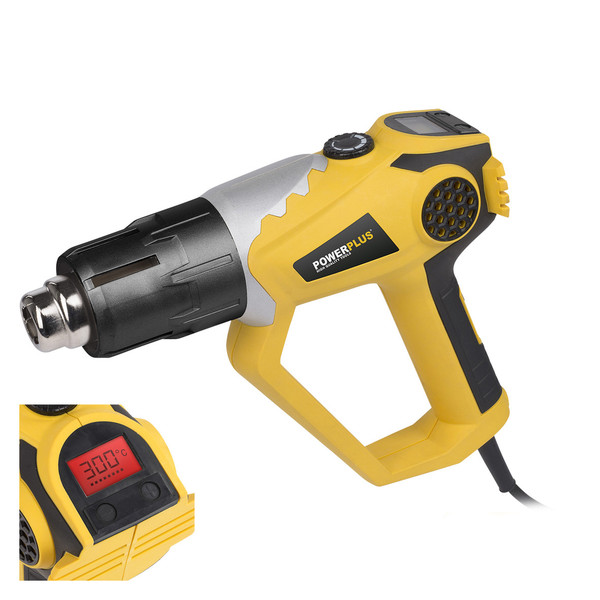 Powerplus 2000w Heat Gun with Digital Display POWX1020