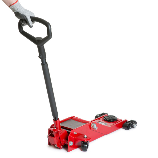 Wolf 2 TONNE Low Profile Long Handle Garage Jack with Front Wheels