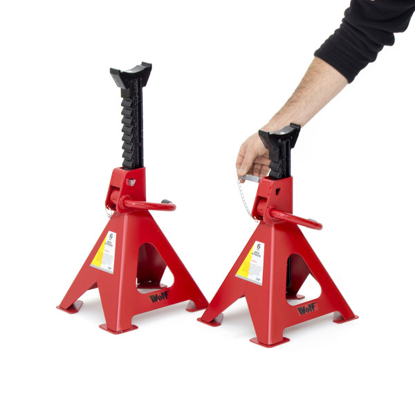 Wolf 6 Ton Axle Stands with double safety pin