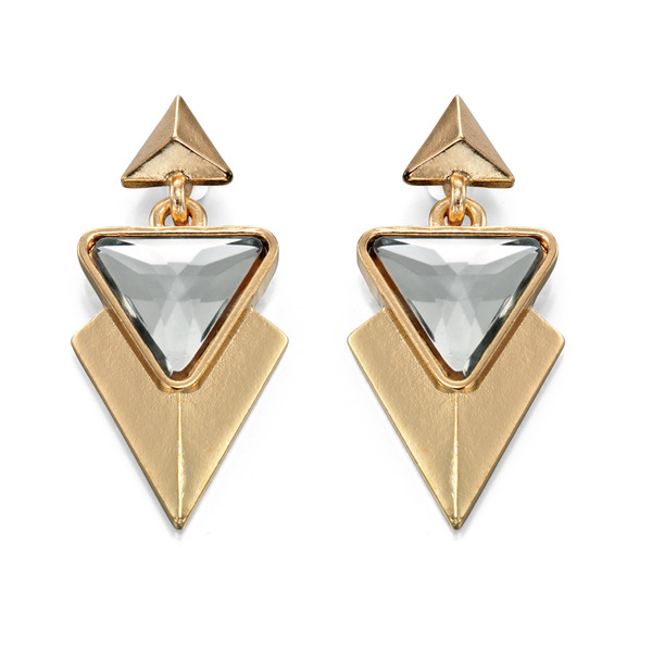Fiorelli Gold Tone Triangular Drop Earrings