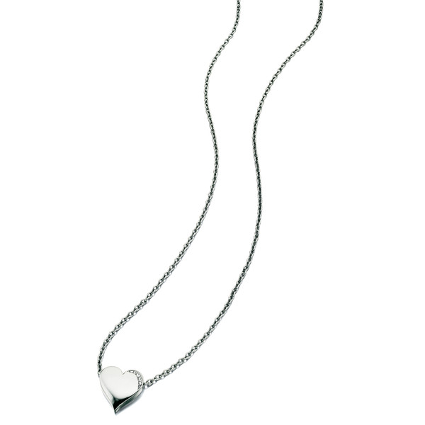 Fiorelli Clear Swarovski Crystal Heart Necklace 65-70cm
