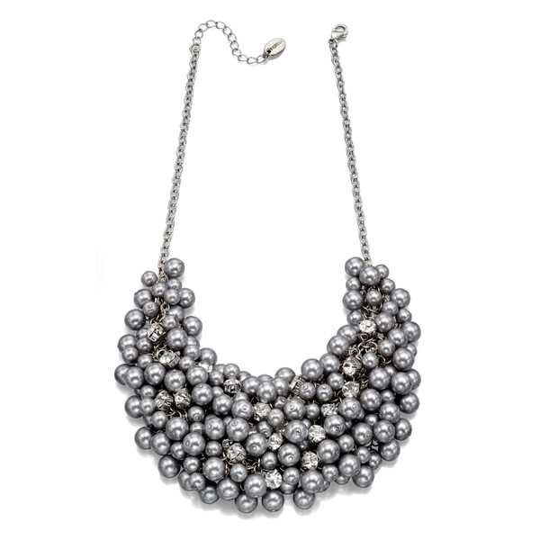 Fiorelli Bead and Crystal Cluster Necklace 40-45cm