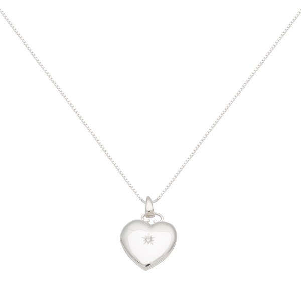 Persona Clear Cubic Zirconia Heart Locket