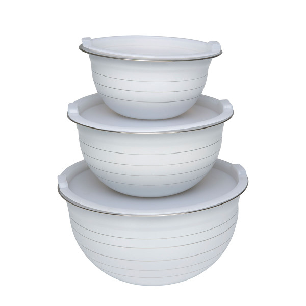 6pc Stainless Steel Bowls with Lids