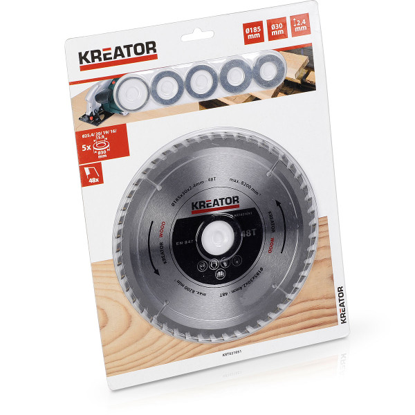 Kreator Saw Blade Wood 160x30x2 4mm 18T