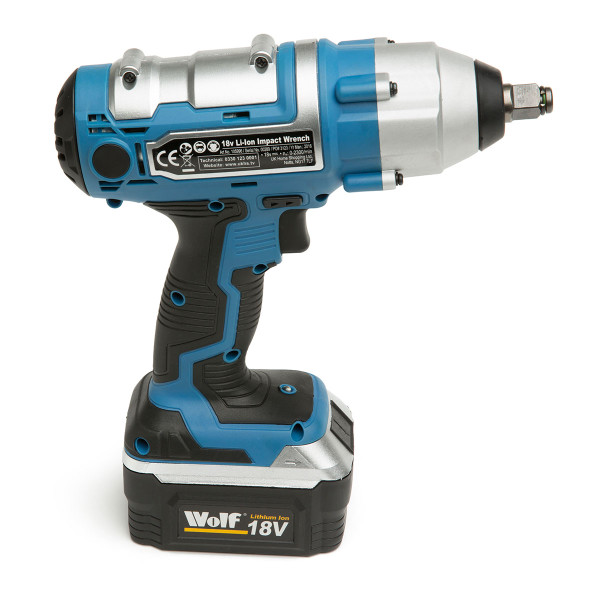 wolf 18v cordless 1 2 380nm impact wrench w battery tools to go. Black Bedroom Furniture Sets. Home Design Ideas