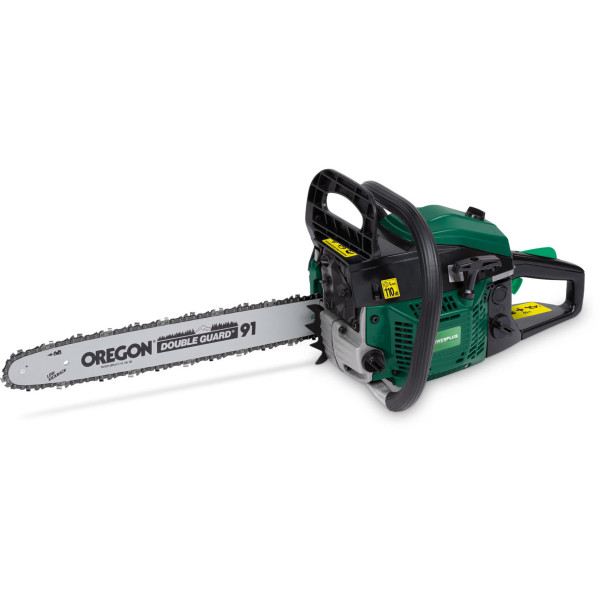 "Powerplus 450mm (18"") Petrol Chainsaw POW64122 & Log Saw Horse"