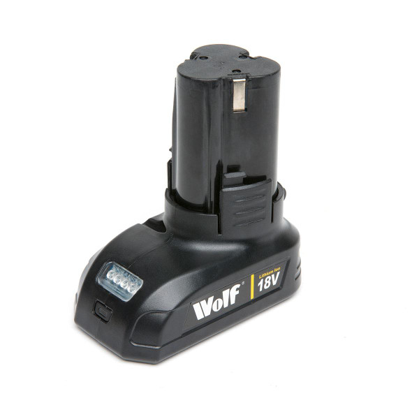 Wolf 18v Lithium Ion Battery for Drill Driver & Impact Driver